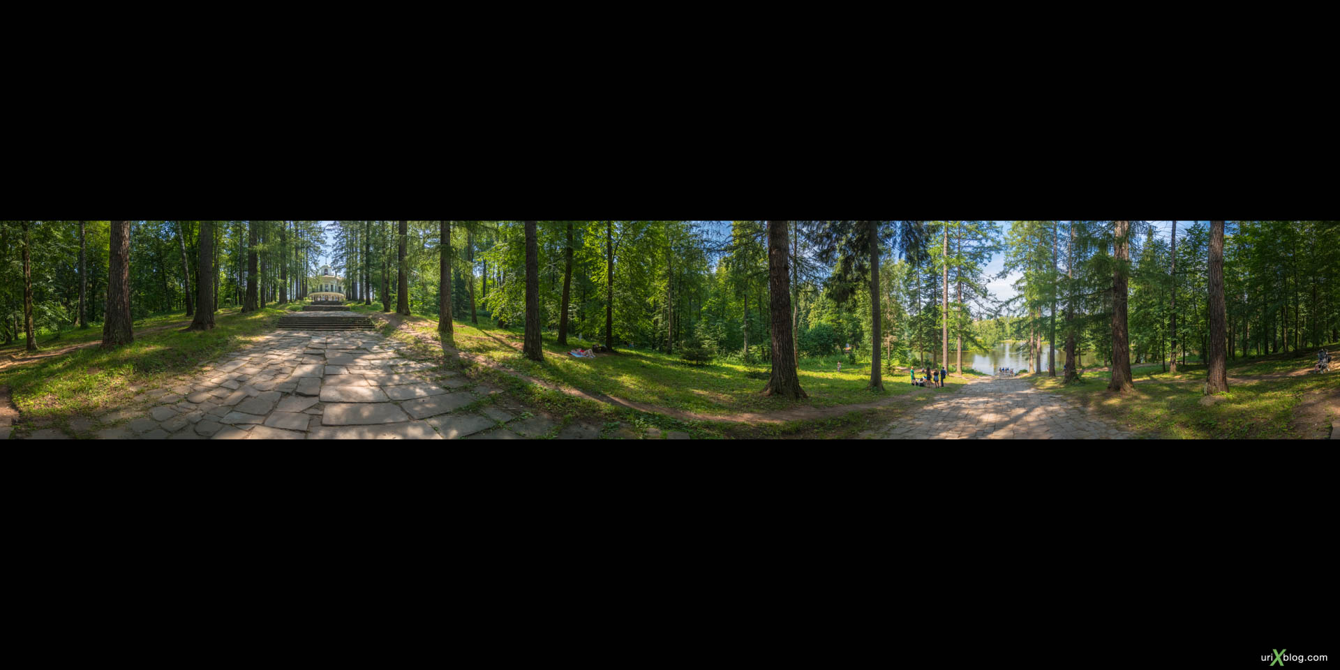 Барский пруд, Усадьба Середниково, панорама, 360, Россия
