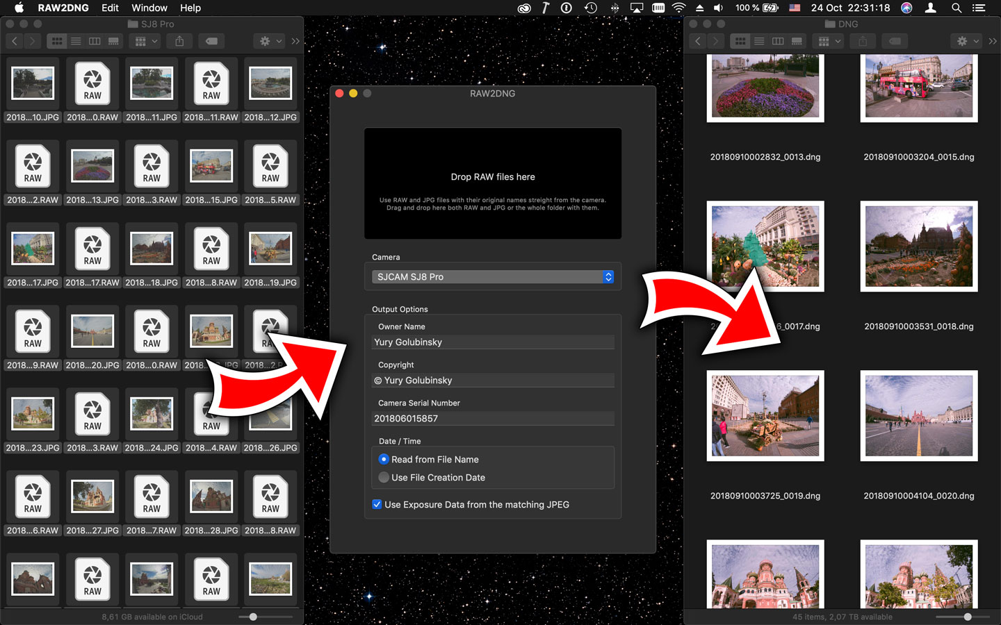 RAW2DNG, Mac App Store, application, macOS, Apple, review, action camera
