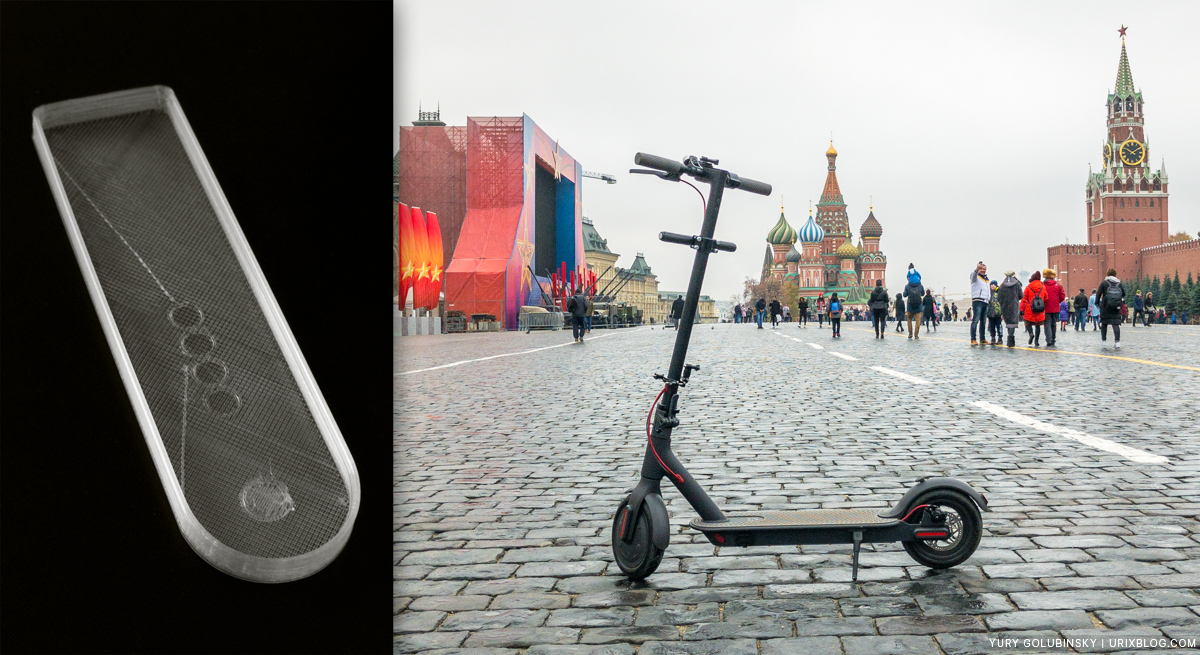 самокат, электросамокат, Xiaomi Mijia M365, обзор, советы, проблемы, 2018, Москва, Россия, Красная площадь