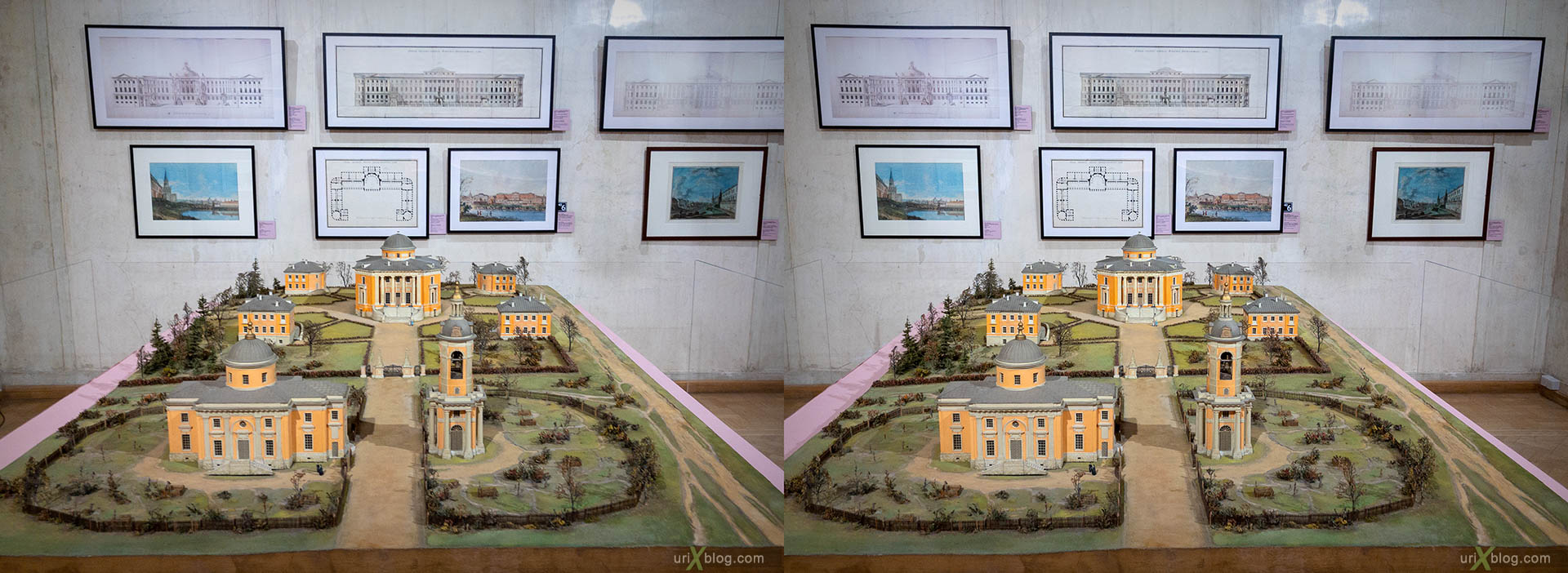 Petrovskoe-Knyazhischevo estate, museum, architecture museum, Moscow, Russia, 3D, stereo pair, cross-eyed, crossview, cross view stereo pair, stereoscopic, 2018
