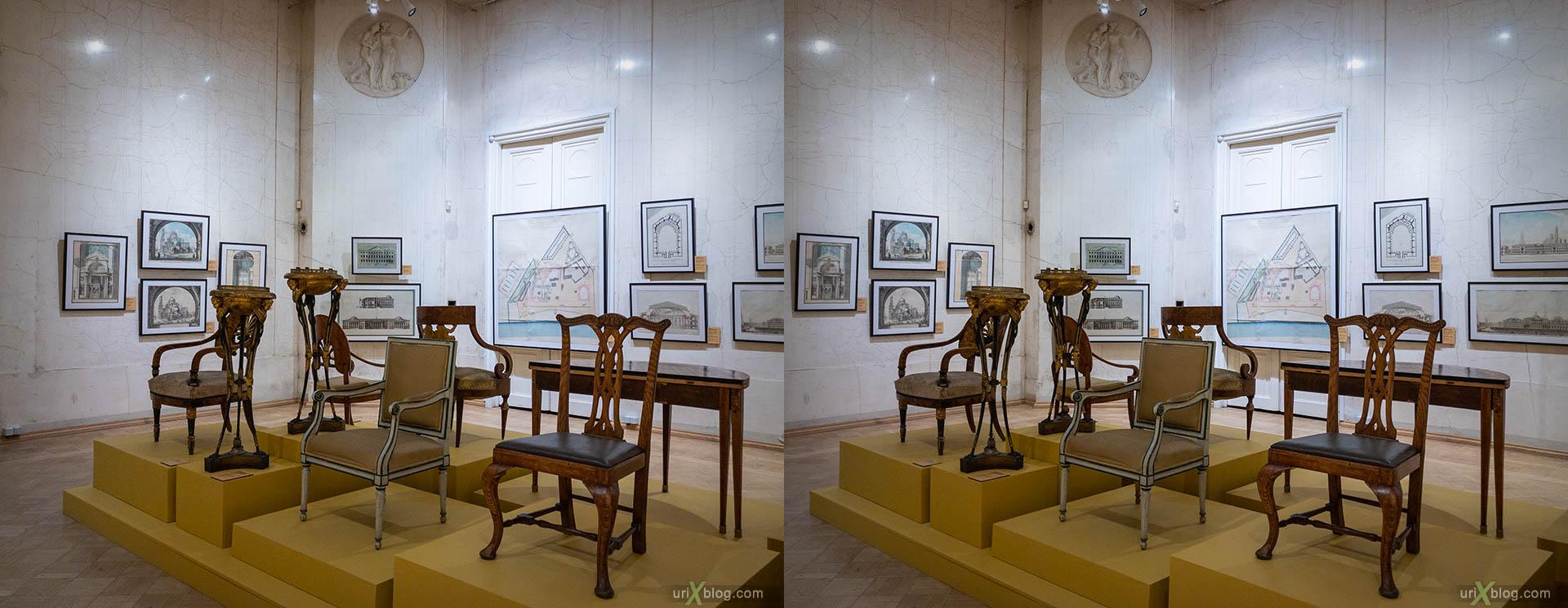 музей, музей архитектуры, Москва, Россия, 3D, перекрёстная стереопара, стерео, стереопара, 2018
