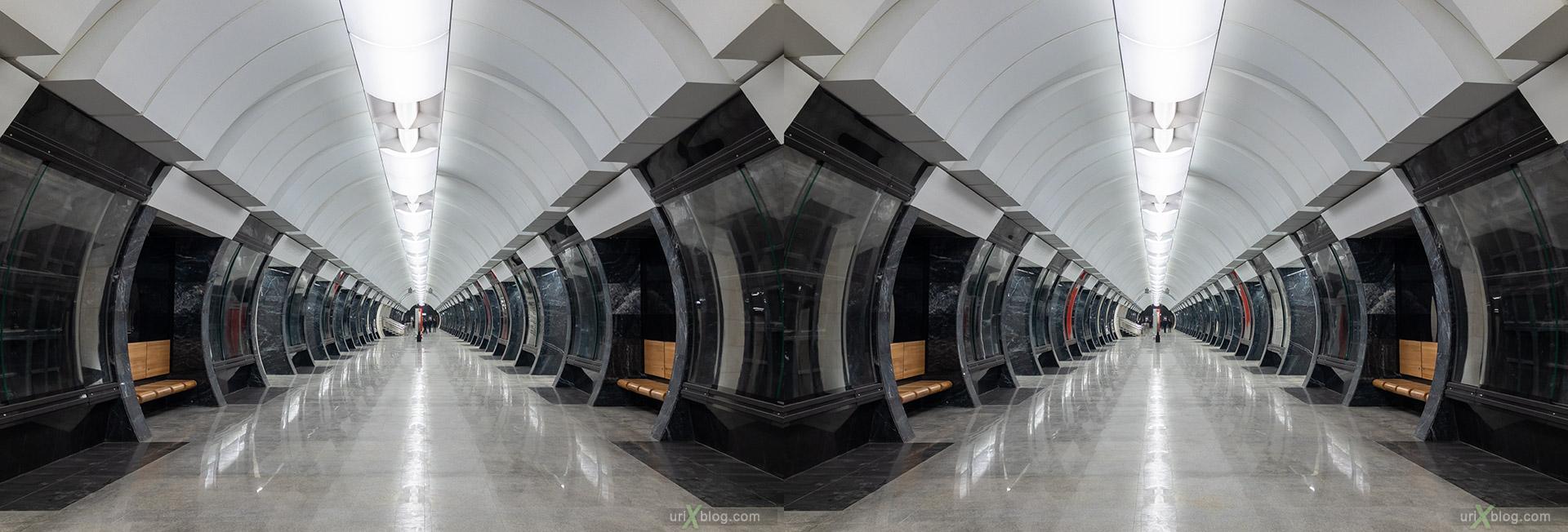 Савёловская БКЛ, станция метро, Большая Колцевая Линия, Москва, Россия, 3D, перекрёстная стереопара, стерео, стереопара