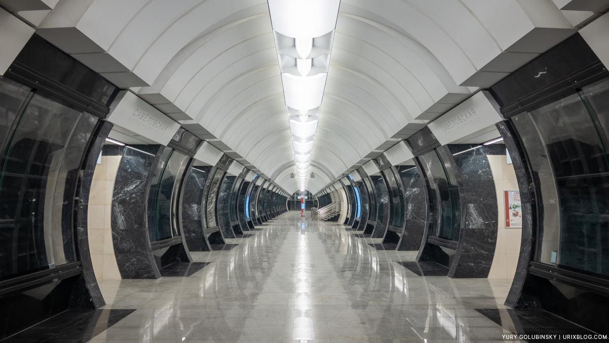 Savyolovskaya BKL, metro station, Bolshaya Koltsevaya line, Moscow, Russia