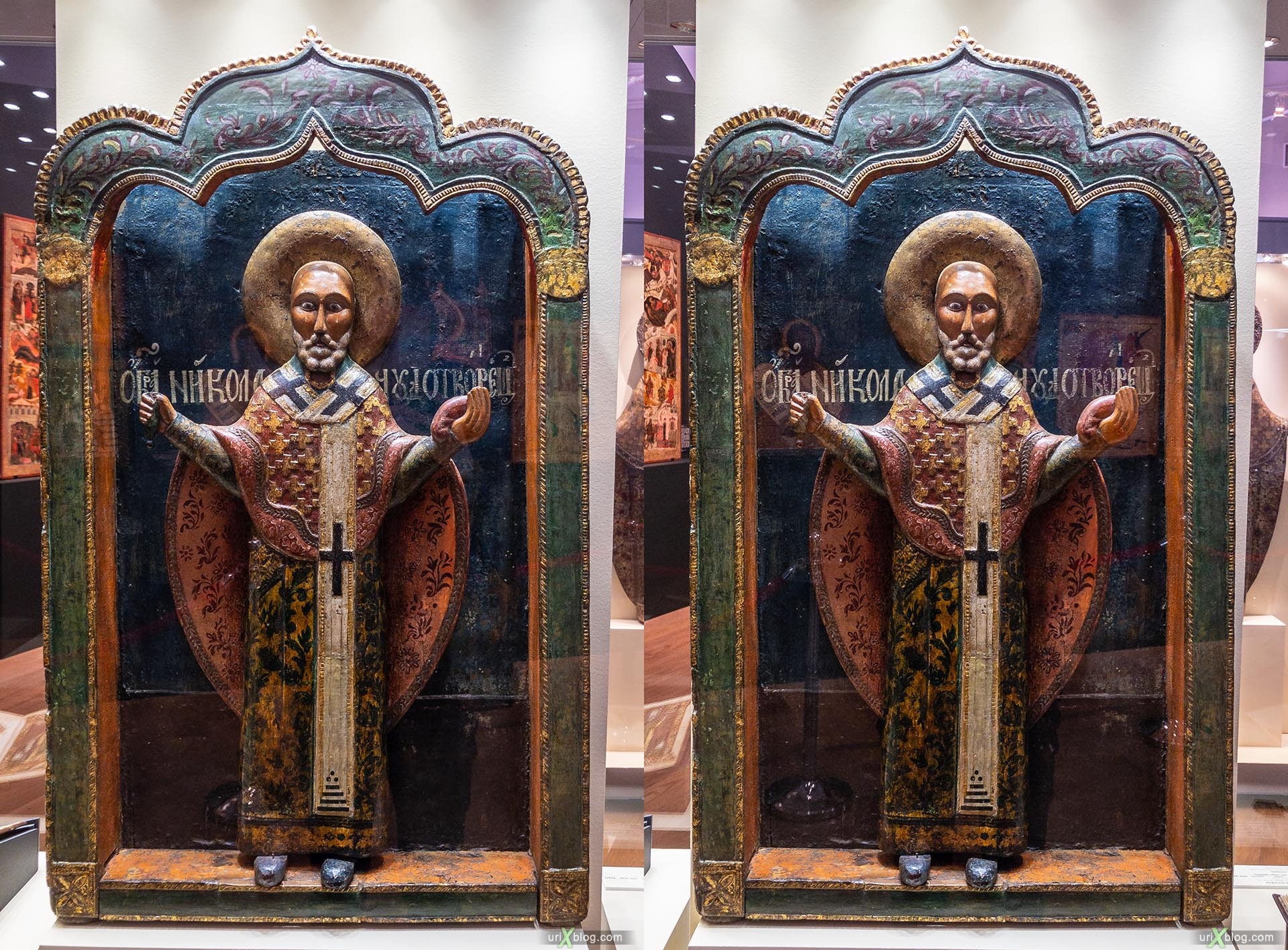 exhibition, Russian North, State Historical museum, Moscow, Russia, 3D, stereo pair, cross-eyed, crossview, cross view stereo pair, stereoscopic
