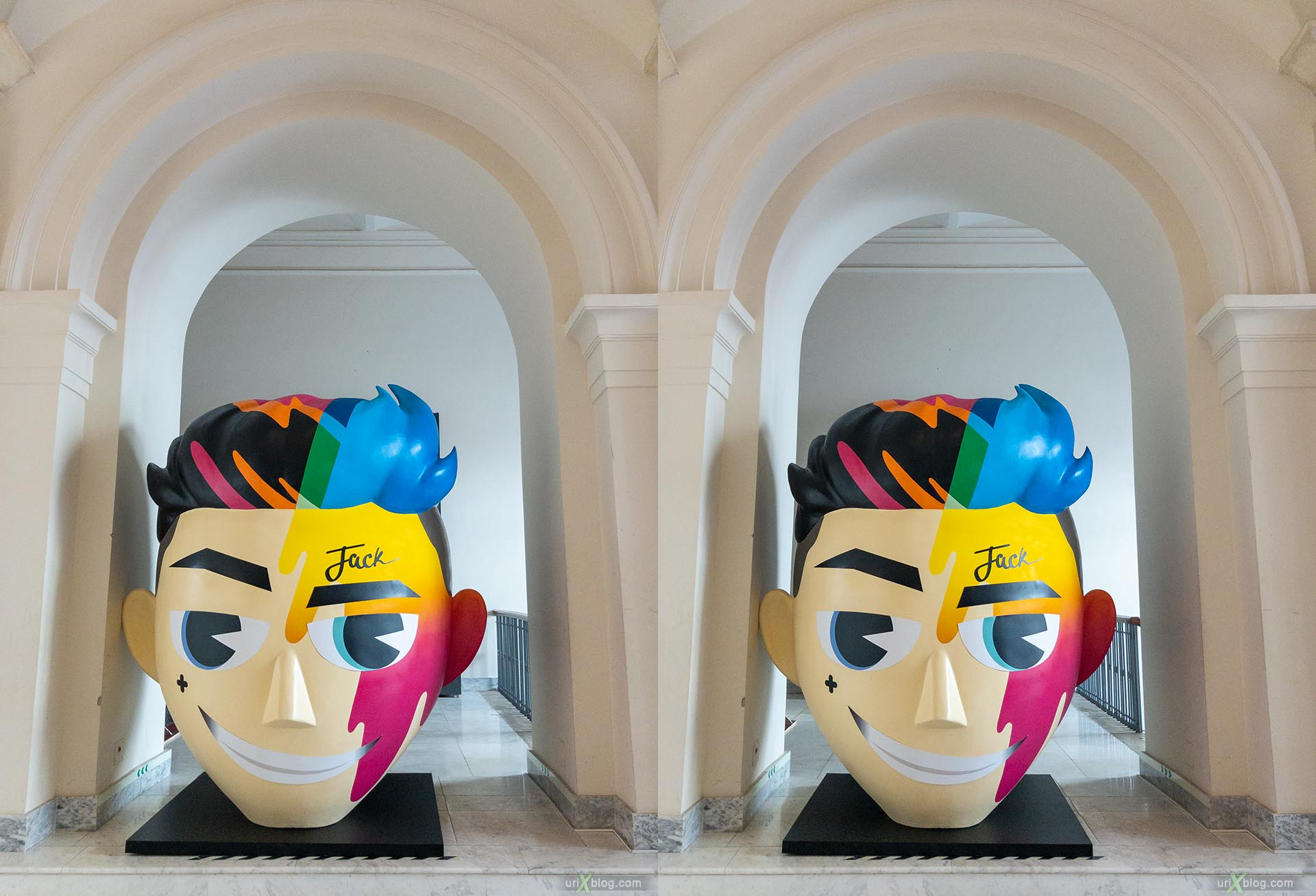 head, jack, exhibition, Russian North, State Historical museum, Moscow, Russia, 3D, stereo pair, cross-eyed, crossview, cross view stereo pair, stereoscopic