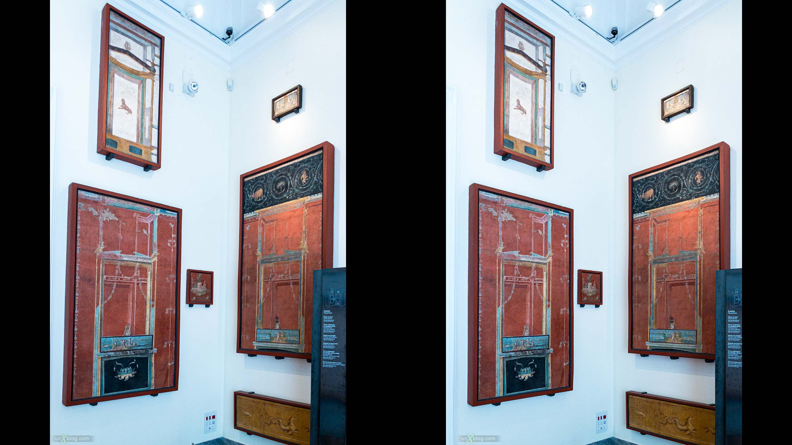 frescoes, National Archaeological Museum of Naples, ancient Rome, Pompei, exhibition, Naples, Italy, 3D, stereo pair, cross-eyed, crossview, cross view stereo pair, stereoscopic