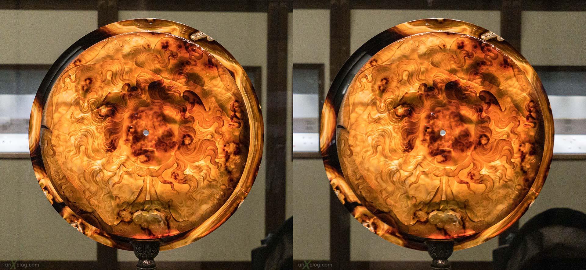 Farnese Cup, тарелка, Национальный археологический музей Неаполя, Древний Рим, Помпеи, выставка, Неаполь, Италия, 3D, перекрёстная стереопара, стерео, стереопара