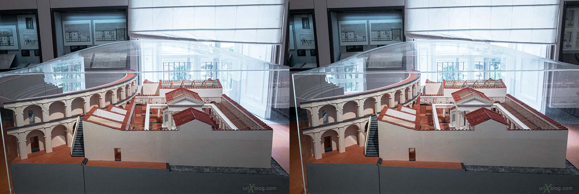 макет, Tempio di Iside, Teatro Grande, Национальный археологический музей Неаполя, Древний Рим, Помпеи, выставка, Неаполь, Италия, 3D, перекрёстная стереопара, стерео, стереопара