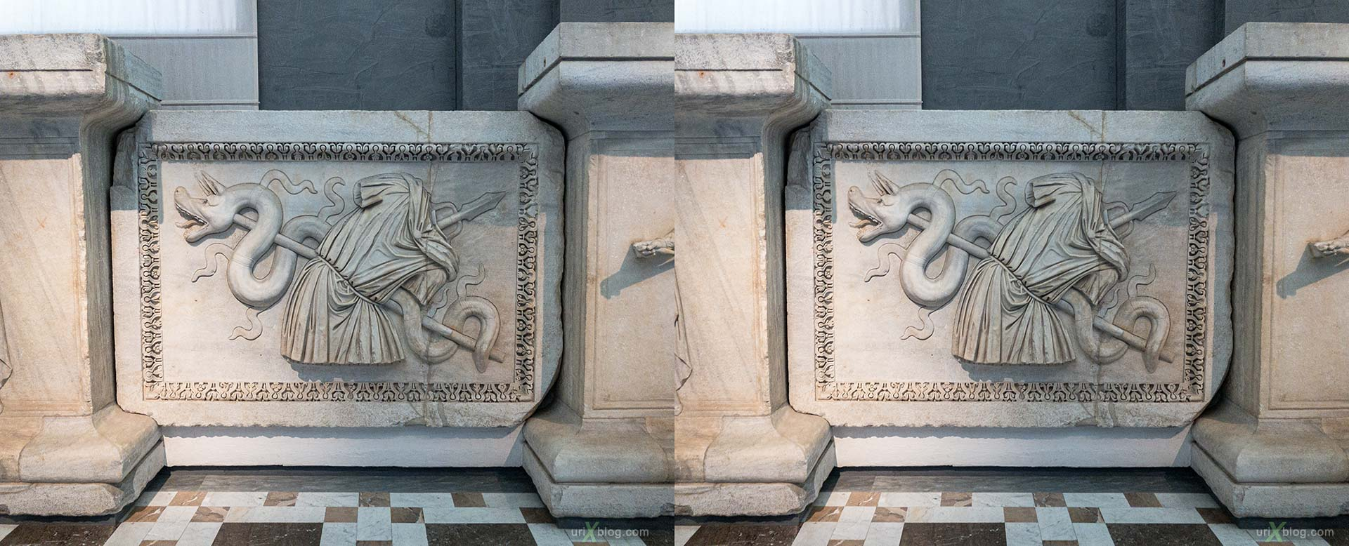 National Archaeological Museum of Naples, ancient Rome, Pompei, exhibition, Naples, Italy, 3D, stereo pair, cross-eyed, crossview, cross view stereo pair, stereoscopic