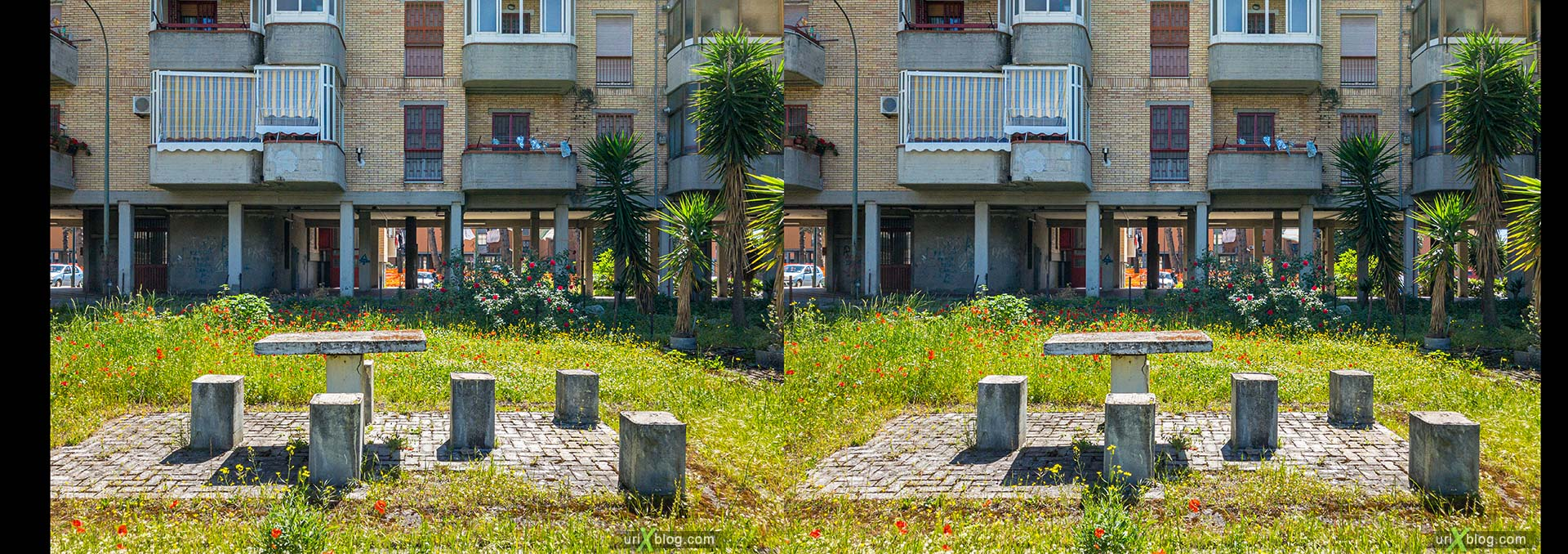 Villa Regina, Italy, 3D, stereo pair, cross-eyed, crossview, cross view stereo pair, stereoscopic