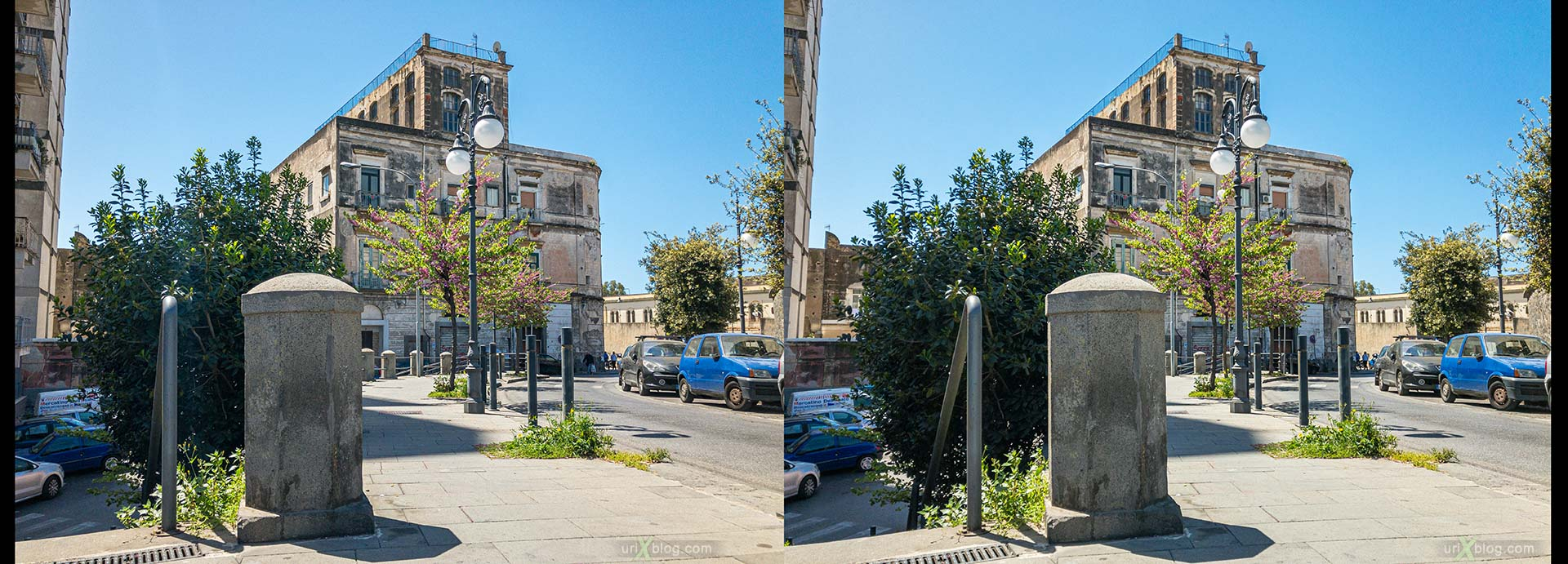 Torre Annunziata, Italy, 3D, stereo pair, cross-eyed, crossview, cross view stereo pair, stereoscopic