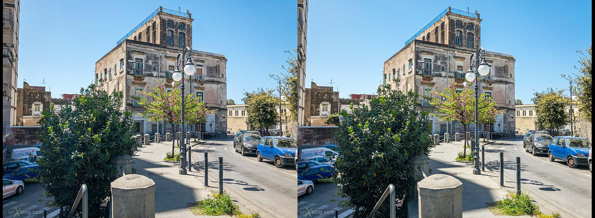 Торре-Аннунциата, Италия, 3D, перекрёстная стереопара, стерео, стереопара