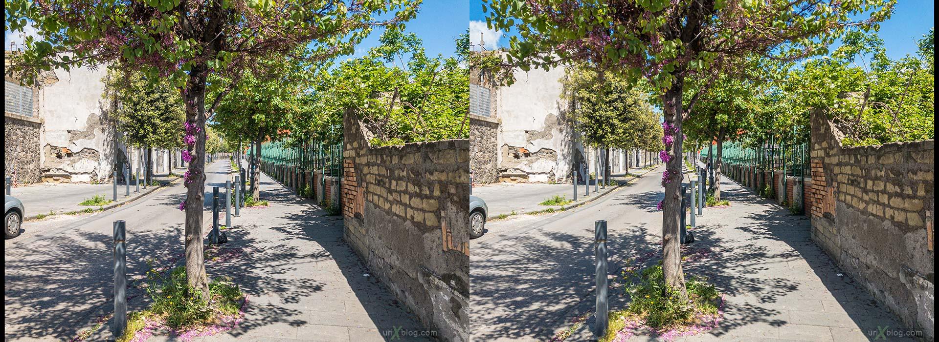 вилла Поппеи, Торре-Аннунциата, Италия, 3D, перекрёстная стереопара, стерео, стереопара