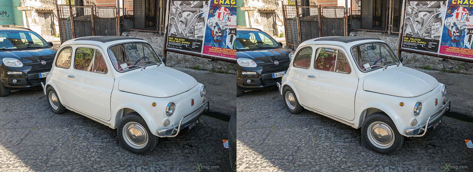 автомобиль, машинка, Торре-Аннунциата, Италия, 3D, перекрёстная стереопара, стерео, стереопара