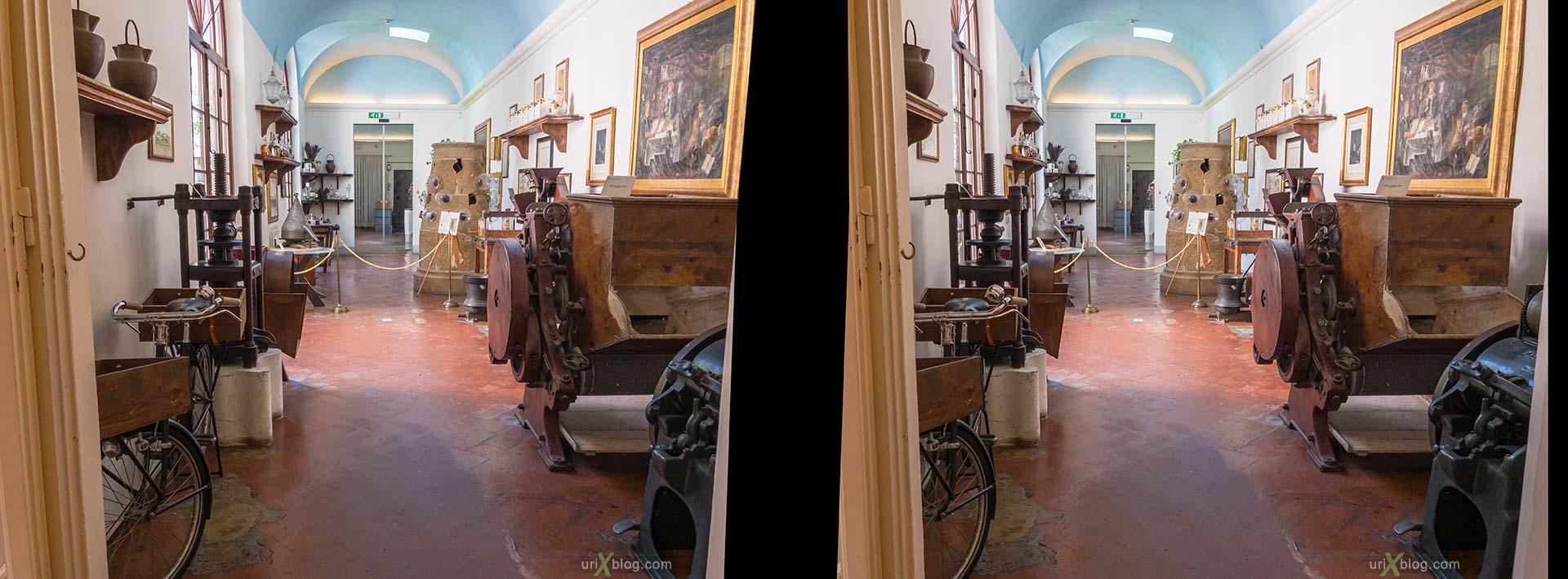 Santa Maria Novella, аптека, Флоренция, Италия, 3D, перекрёстная стереопара, стерео, стереопара
