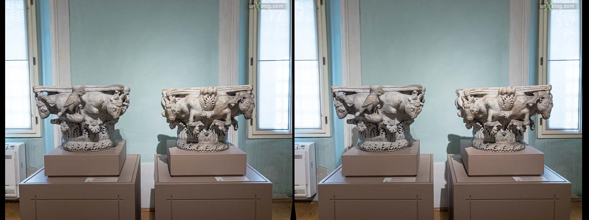 Archiepiscopal Museum, Ravenna, Italy, 3D, stereo pair, cross-eyed, crossview, cross view stereo pair, stereoscopic