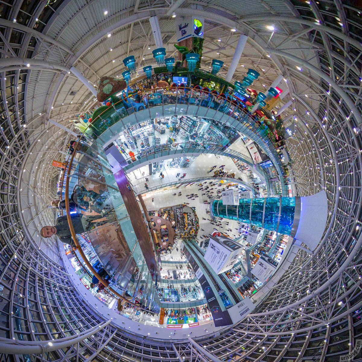 Авиапарк, Москва, Россия, фишай, панорама, Insta360 One X, 2019