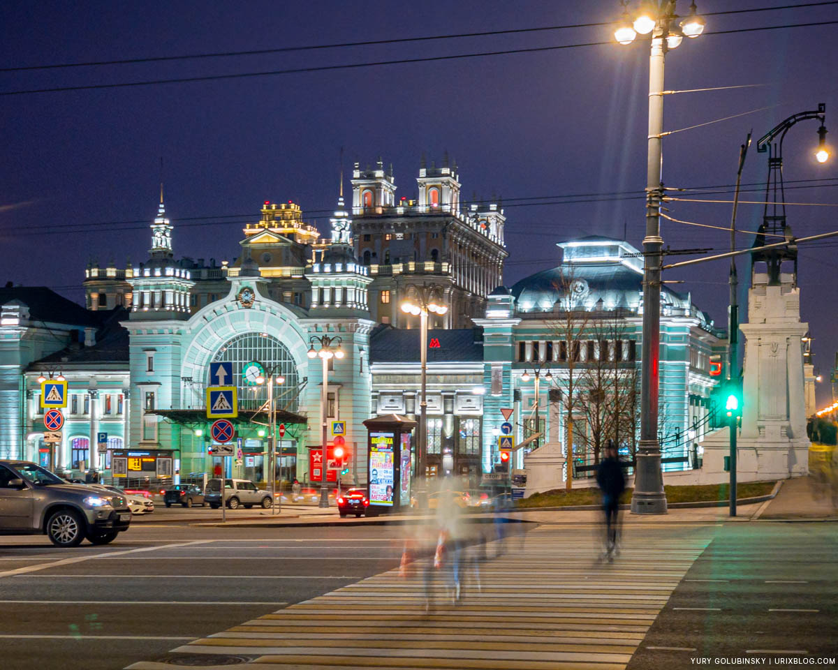 Belorusskiy train station, New Year, Moscow, Russia, 2019