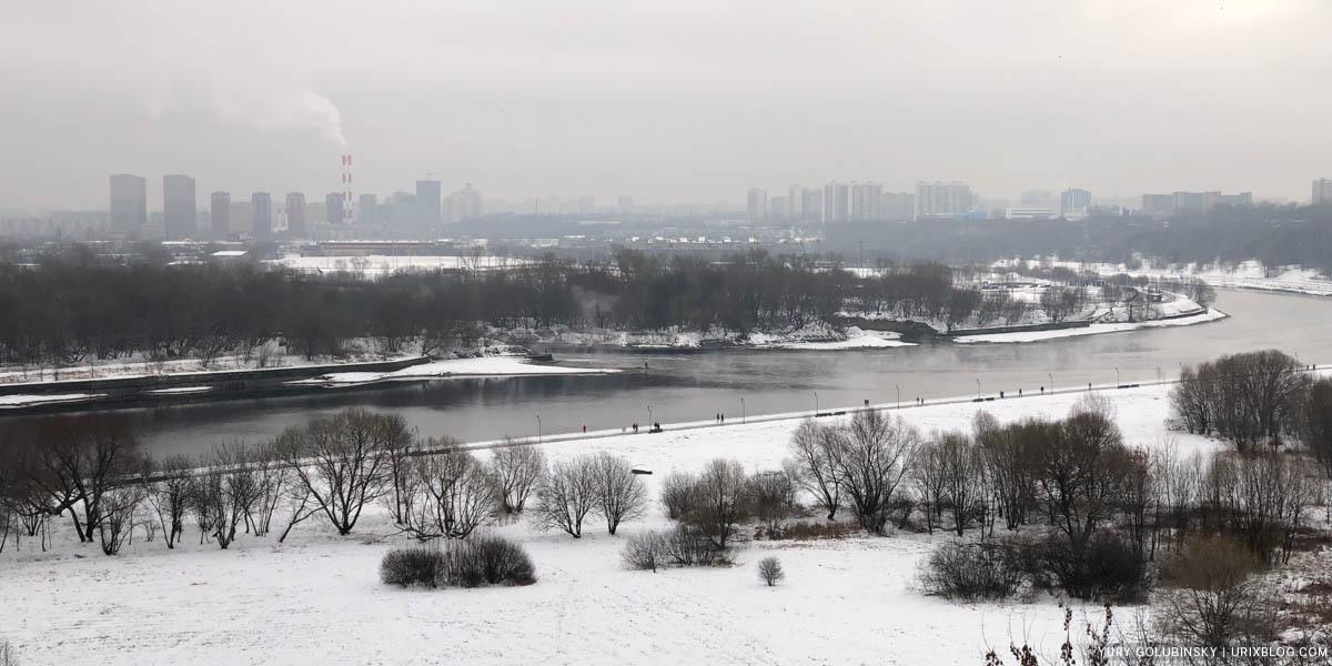 парк Коломенское, Москва река, Москва, Россия, 2020