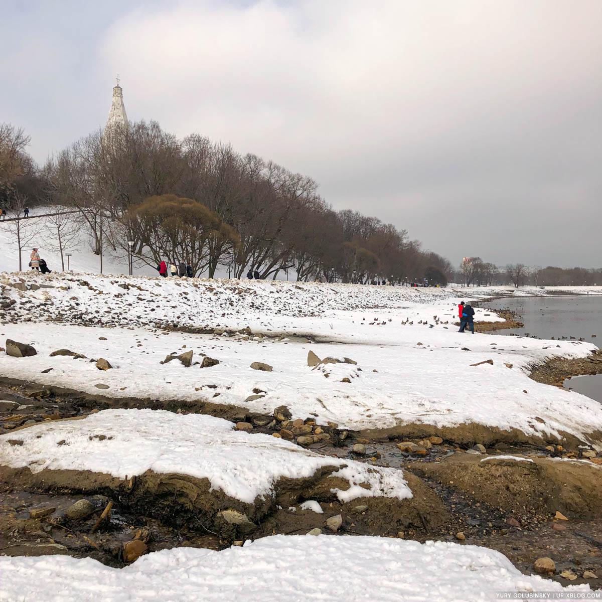 Kolomenskoye park, Moskva river, Moscow, Russia, 2020