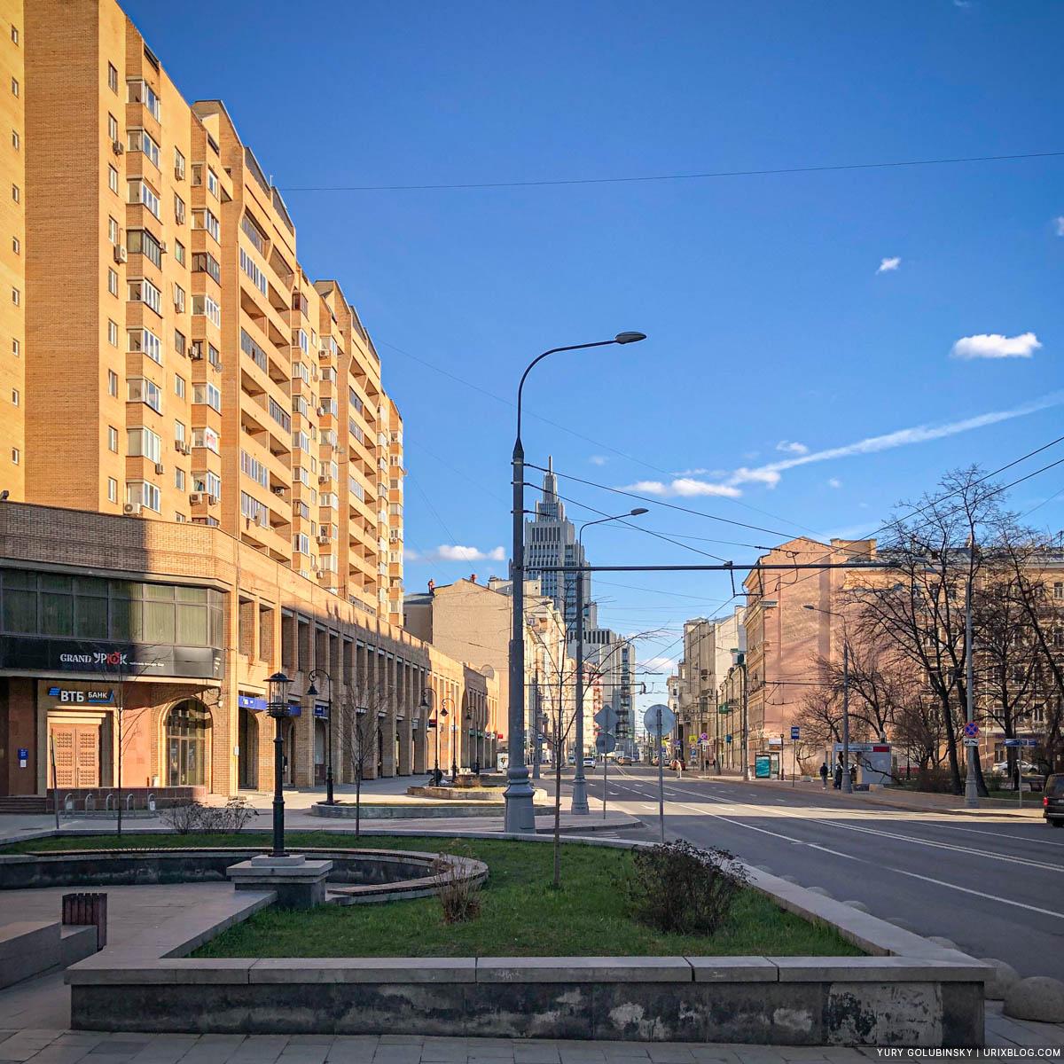 Dolgorukovskaya, Novoslobodskaya, empty streets, quarantine, self-isolation, Moscow, Russia