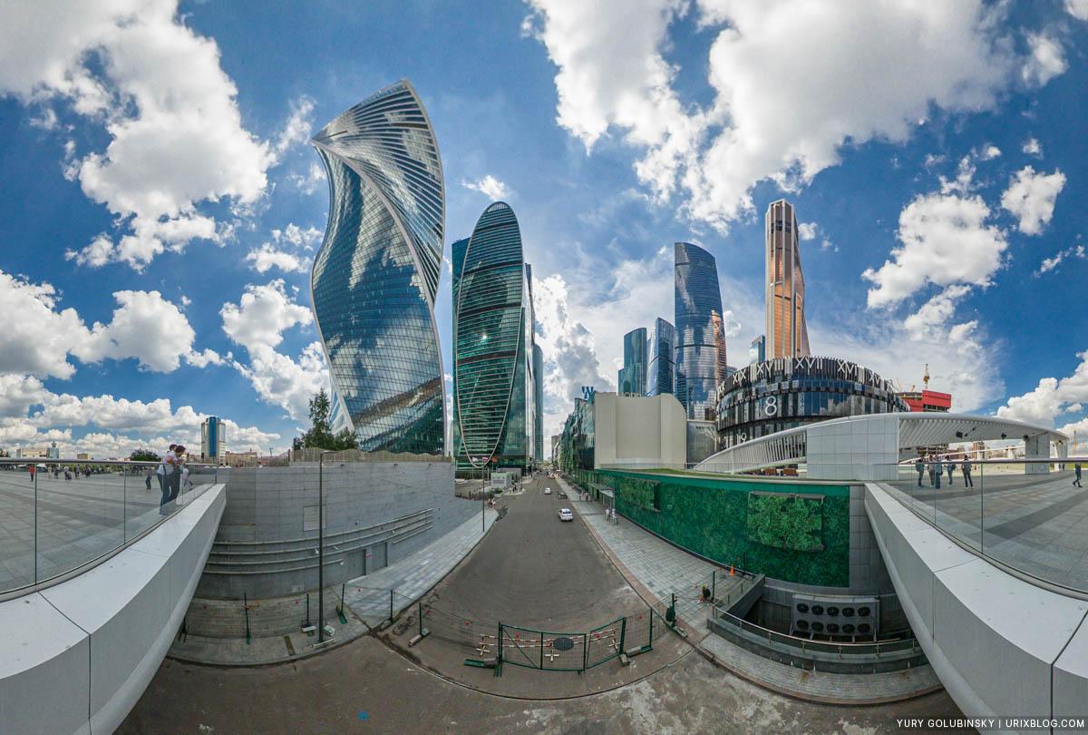 Сити, Москва, Россия, панорама, Insta360 One X
