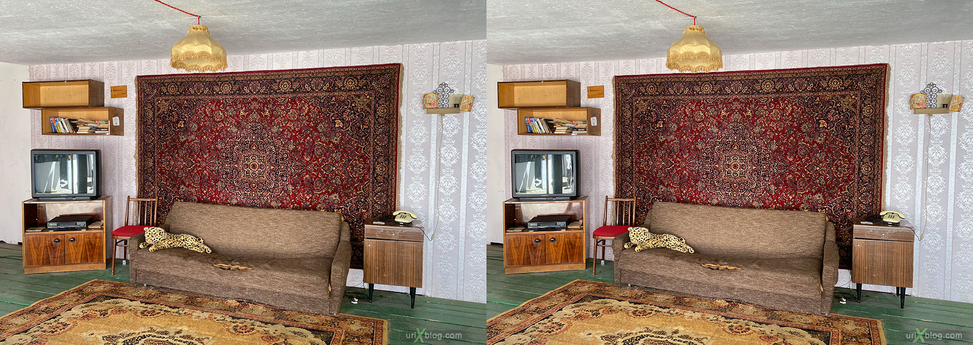 soviet, room, carpet, instastreet, Izmailovi, vernissage, kremlin, Moscow, Russia, 3D, stereo pair, cross-eyed, crossview, cross view stereo pair, stereoscopic