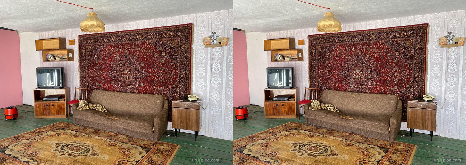 комната, ковёр, ковры, советский, инстаулица, Измайлово, вернисаж, кремль, Москва, Россия, 3D, перекрёстная стереопара, стерео, стереопара