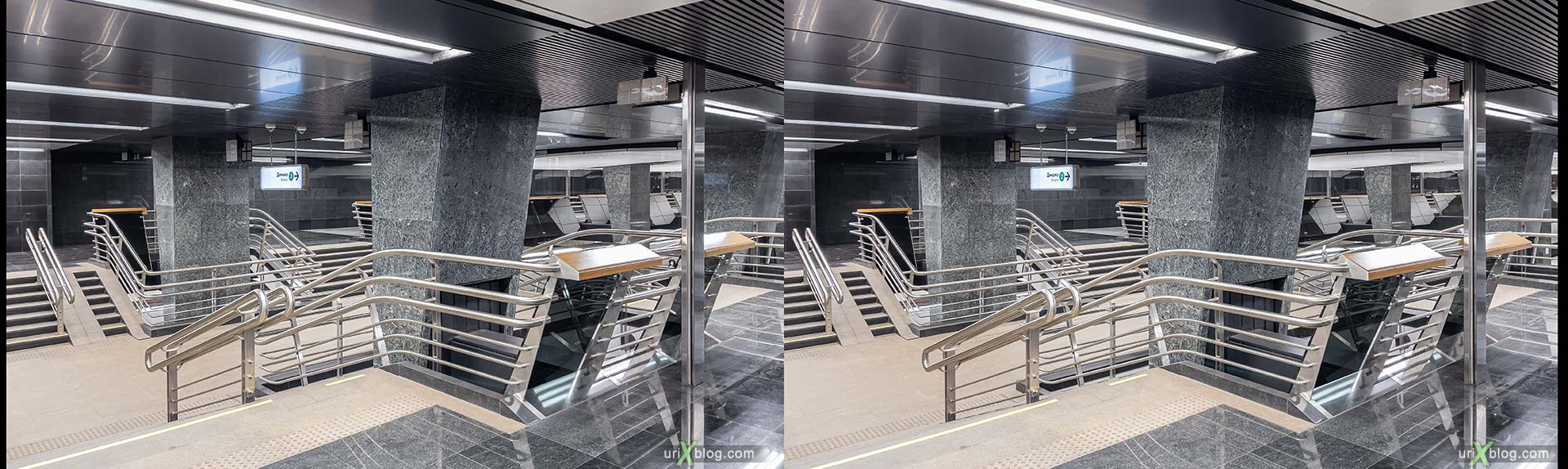 metro, Moscow, Russia, Dynamo, Petrovsky Park, 3D, stereo pair, cross-eyed, crossview, cross view stereo pair, stereoscopic