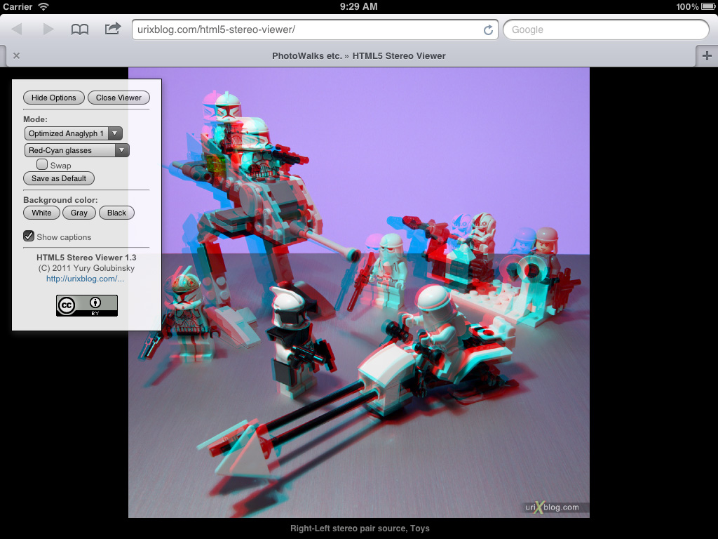 HTML5 Stereo Viewer screenshot