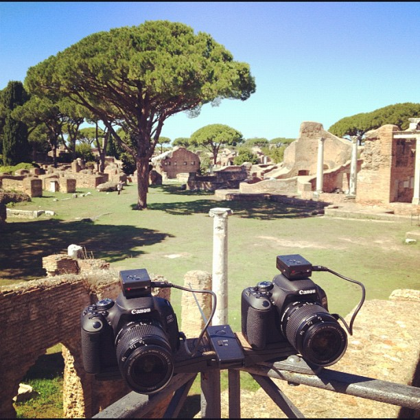 Рим, Остиа Антика, Rome, Ostia Antica, Photo camera, stereo