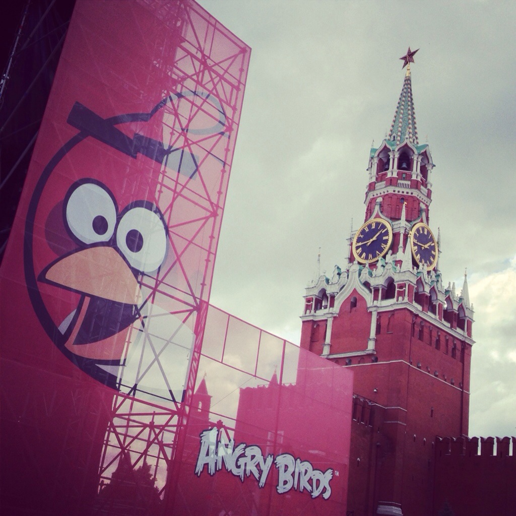 Angry Birds concert on the Red Square, Moscow