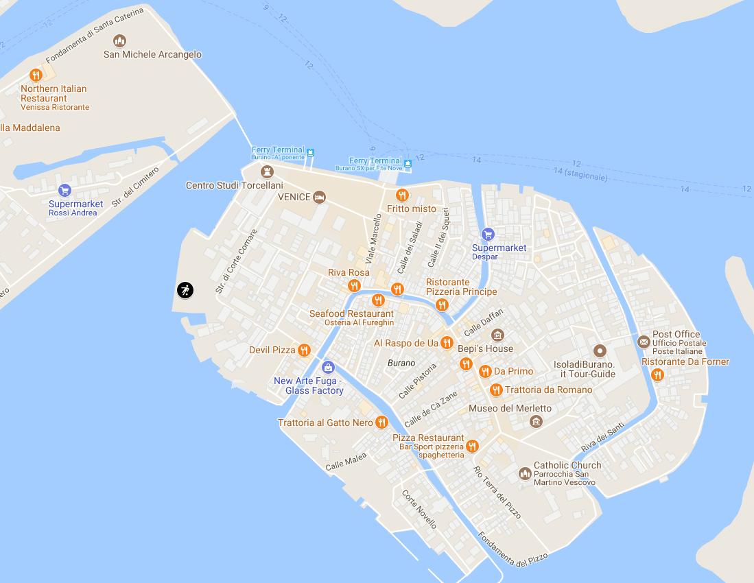 Детские площадки Бурано - карта
