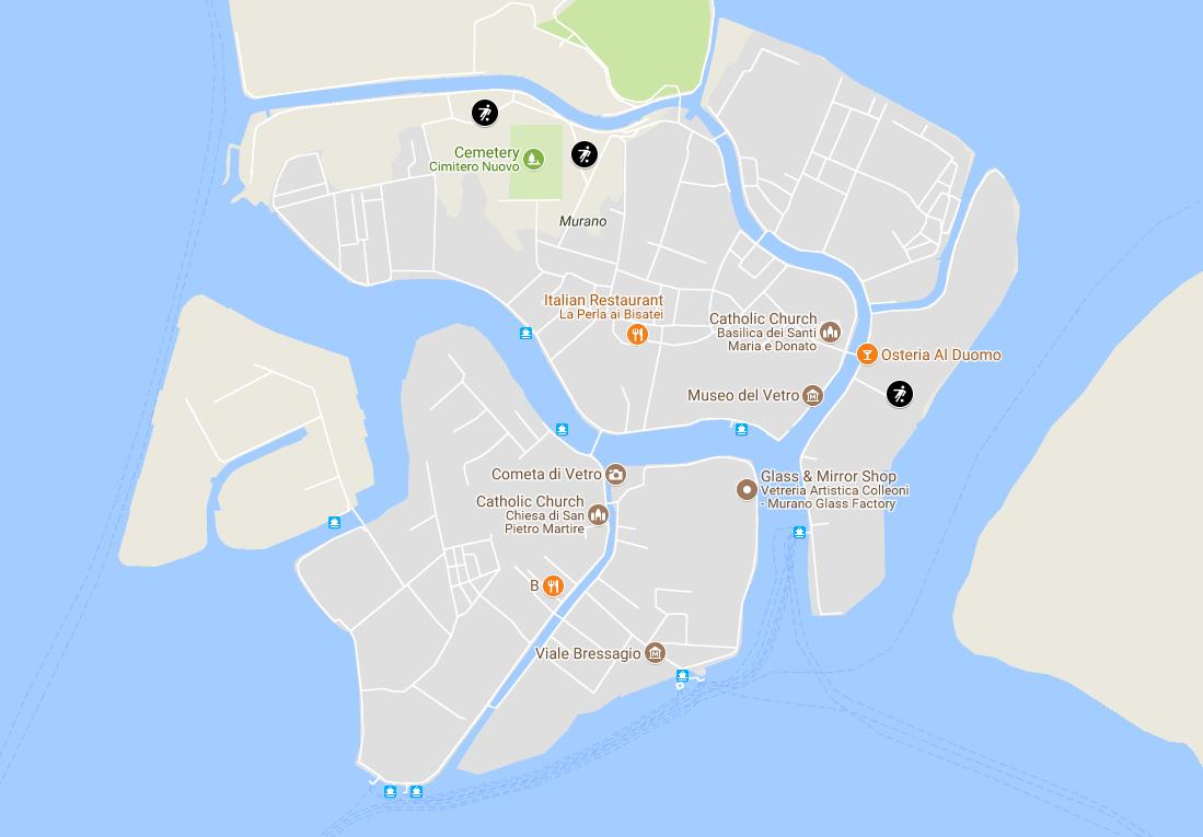 Детские площадки Мурано - карта