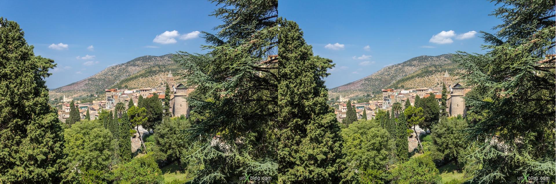 2012, villa D'Este, Italy, Tivoli, Rome, 3D, stereo pair, cross-eyed, crossview, cross view stereo pair