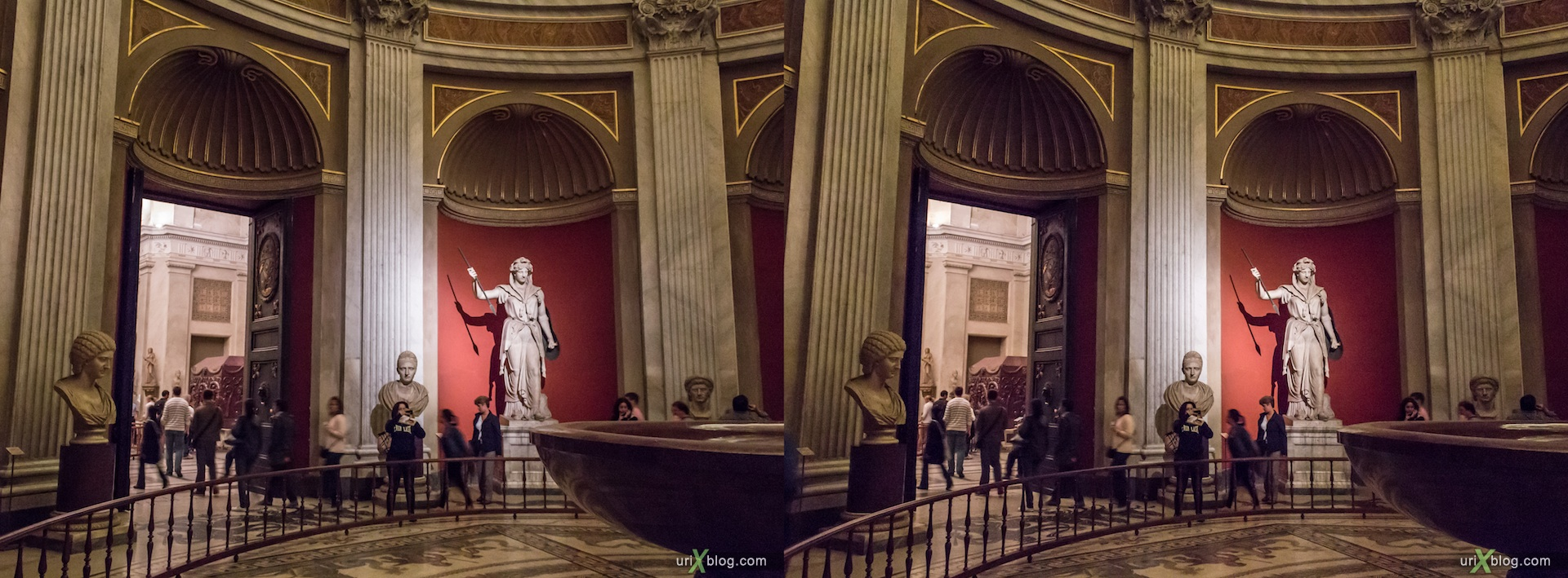2012, Vatican museums, Rome, Italy, 3D, stereo pair, cross-eyed, crossview, cross view stereo pair