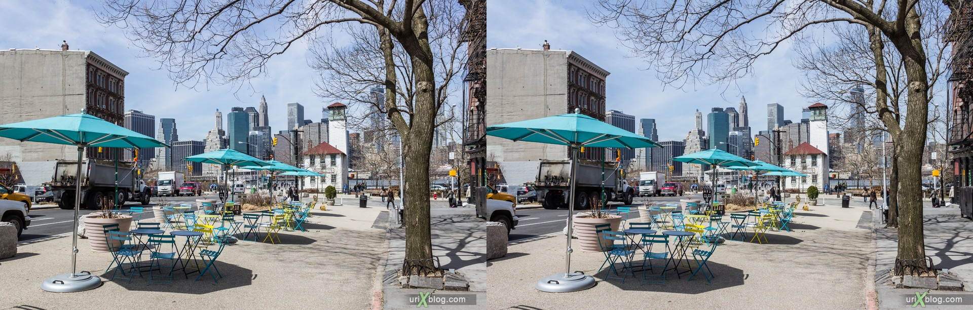 2013, Old Fulton улица, Бруклин, Нью-Йорк, США, 3D, перекрёстные стереопары, стерео, стереопара, стереопары
