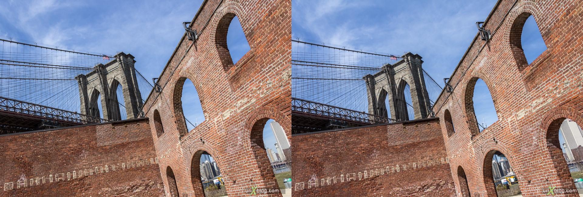 2013, Бруклин, Нью-Йорк, США, 3D, перекрёстные стереопары, стерео, стереопара, стереопары