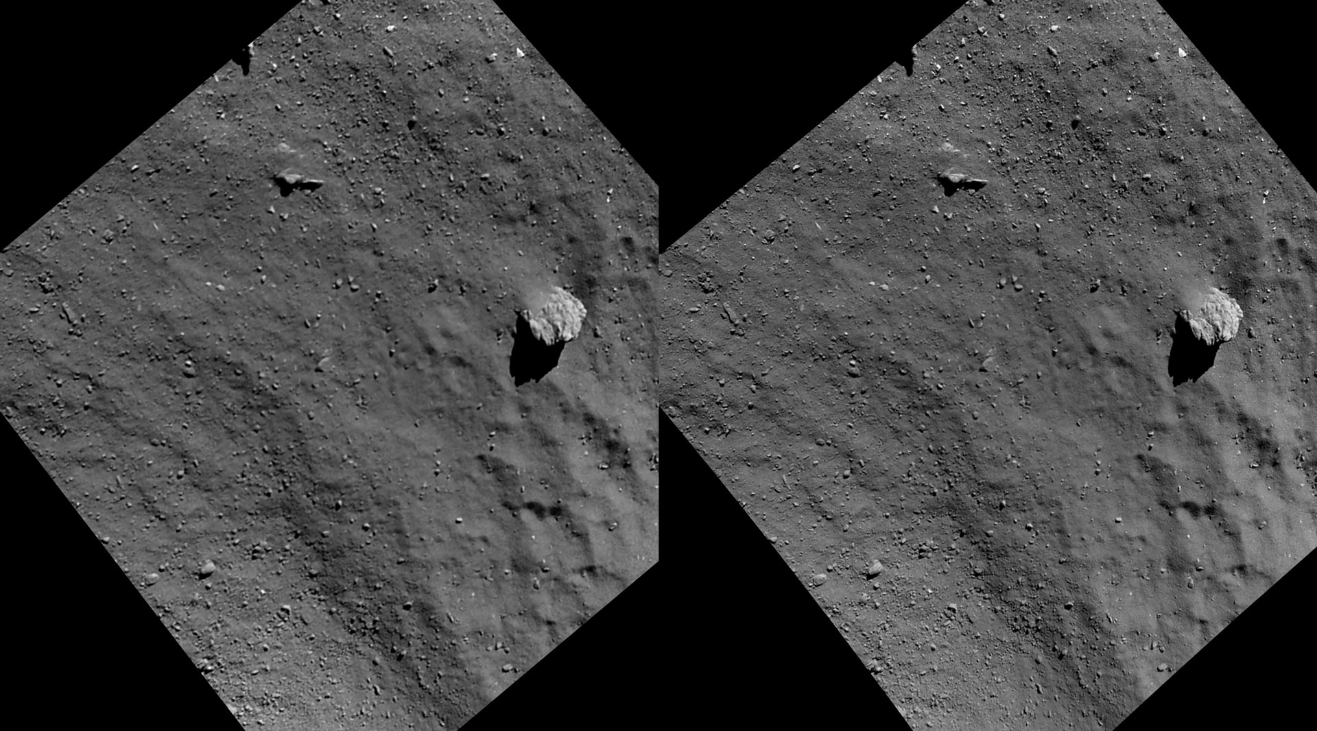 Comet 67P/Churyumov-Gerasimenko, комета, космос, астрономия, 3D, перекрёстная стереопара, стерео, стереопара, 2015