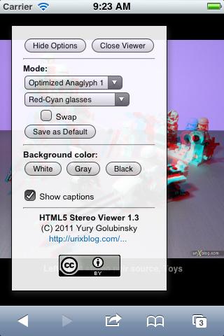 HTML5 Stereo Viewer screenshot